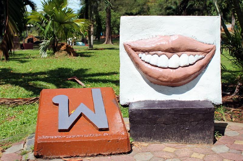 Алфавит-парк в Краби. Рот