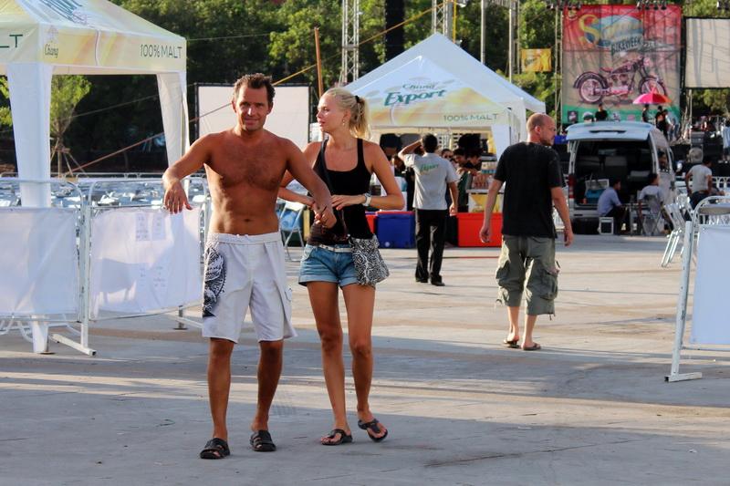 Денис и Вика на Samui Bike Week 2013