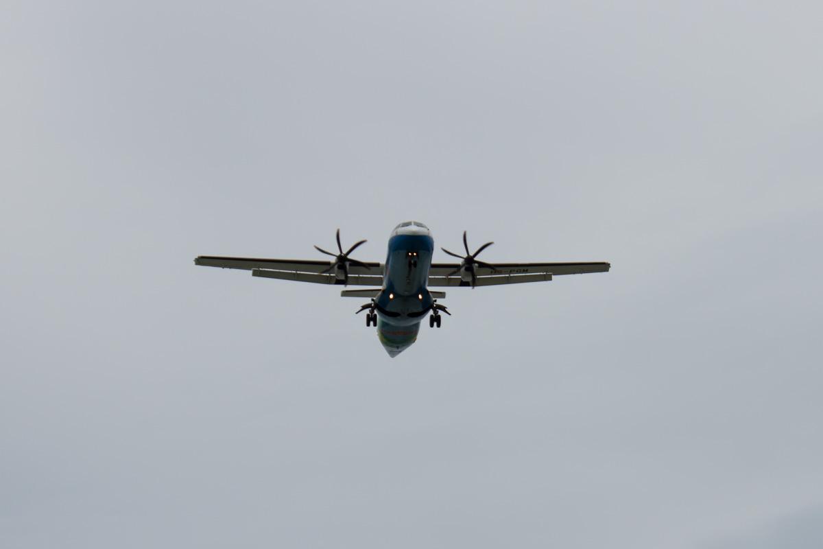 ATR72 заходит на посадку на Самуи