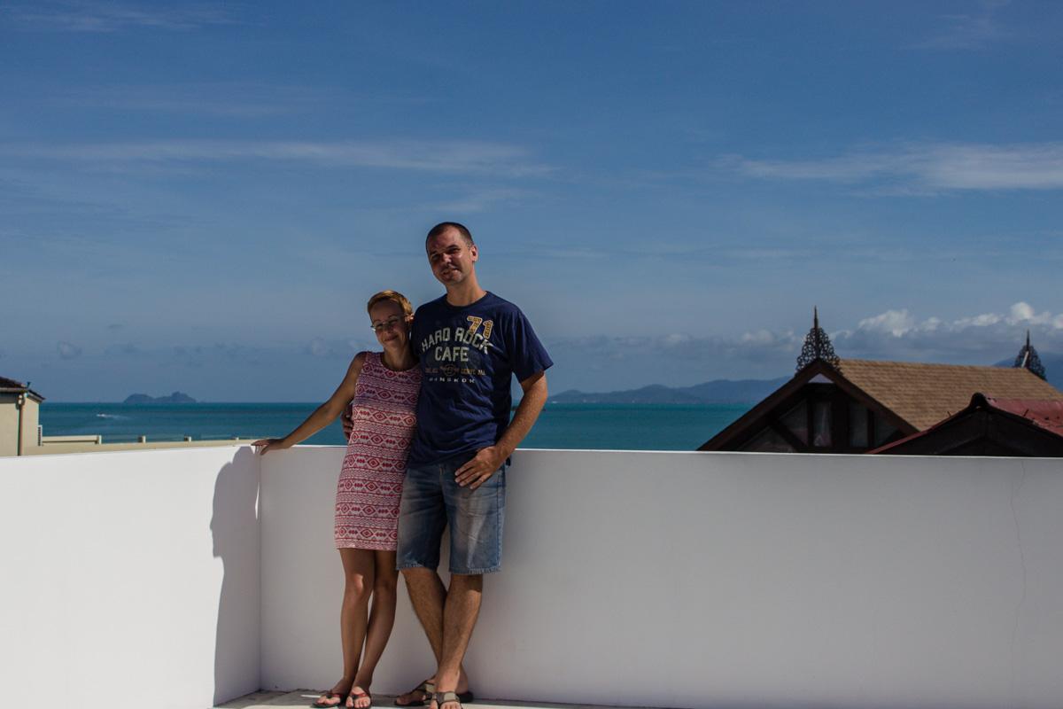 Я и Джейн на крыше нашего отеля