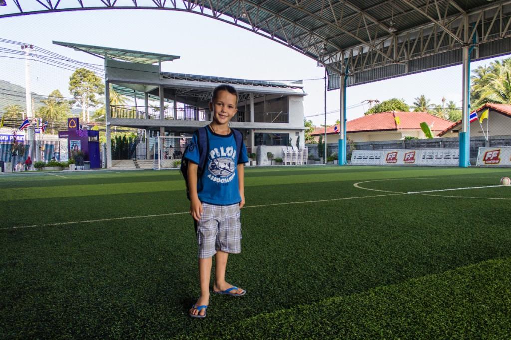 Арсений на футбольном поле