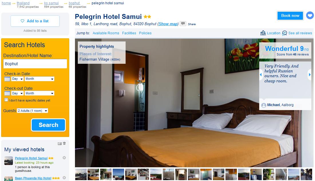 Pelegrin Hotel на Booking.com