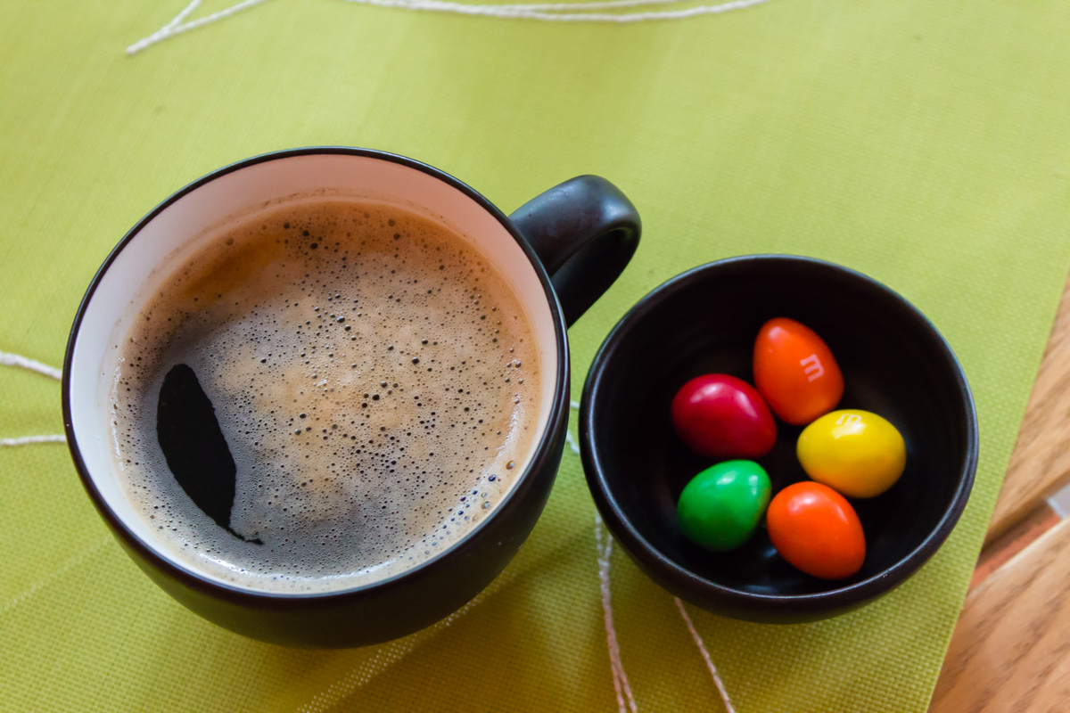 Кофе и конфетки