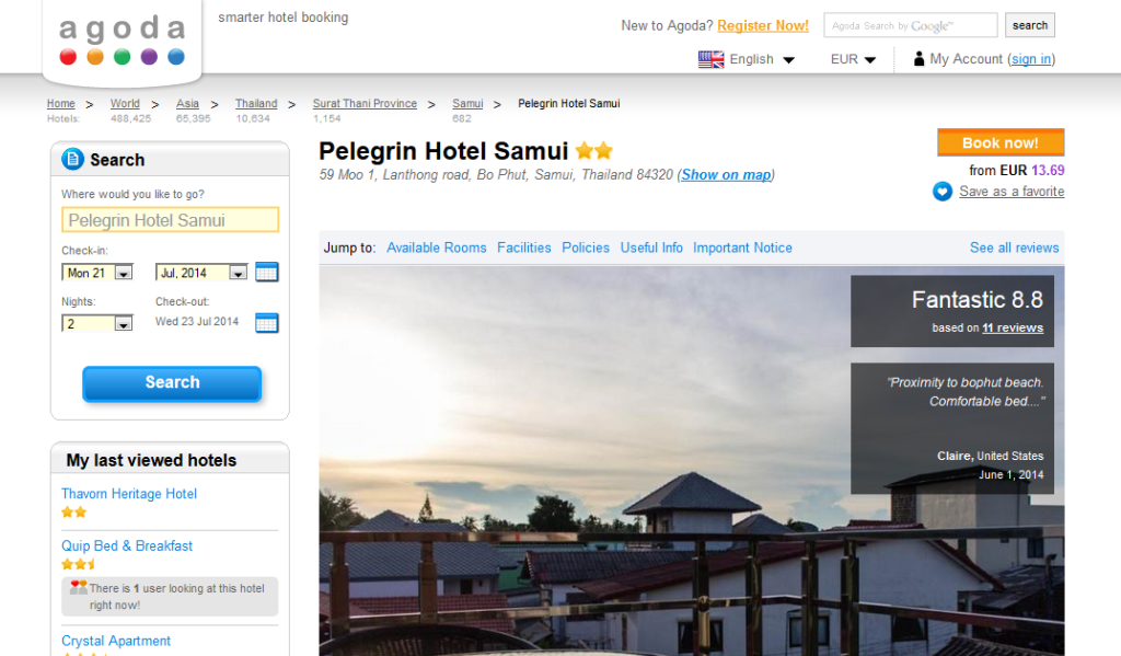 Pelegrin Hotel на Agoda