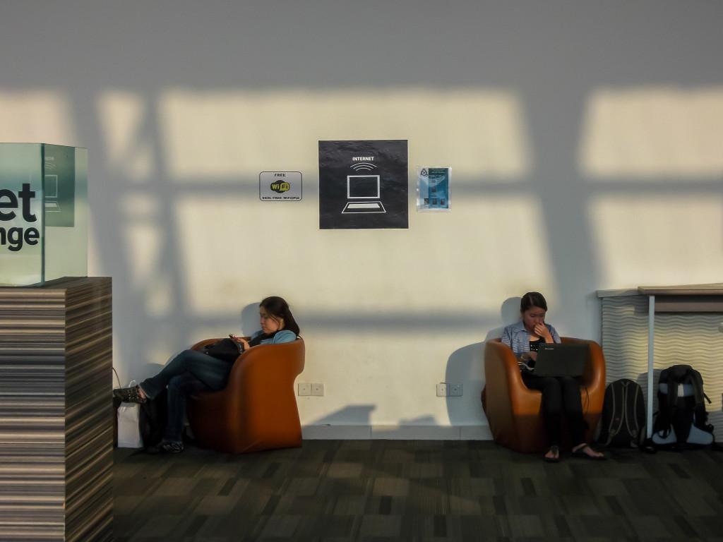Wi-Fi зона в аэропорту Пенанга