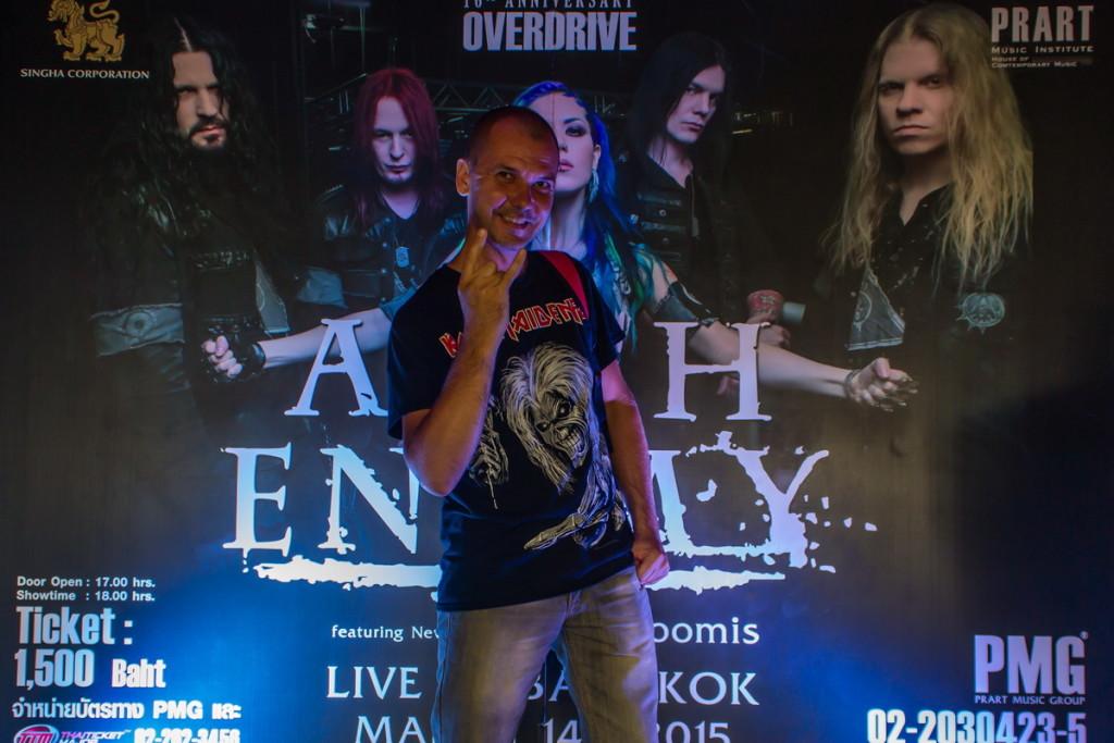 Перед концертом Arch Enemy