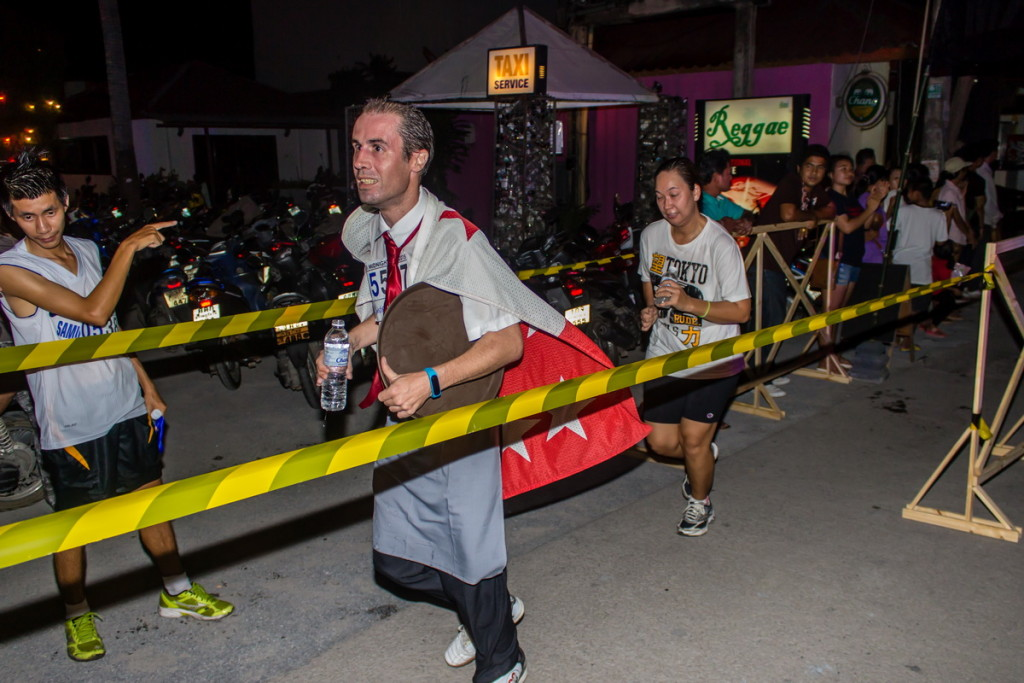 Один из участников забега