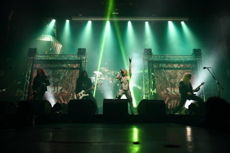 Arch Enemy на сцене в Бангкоке