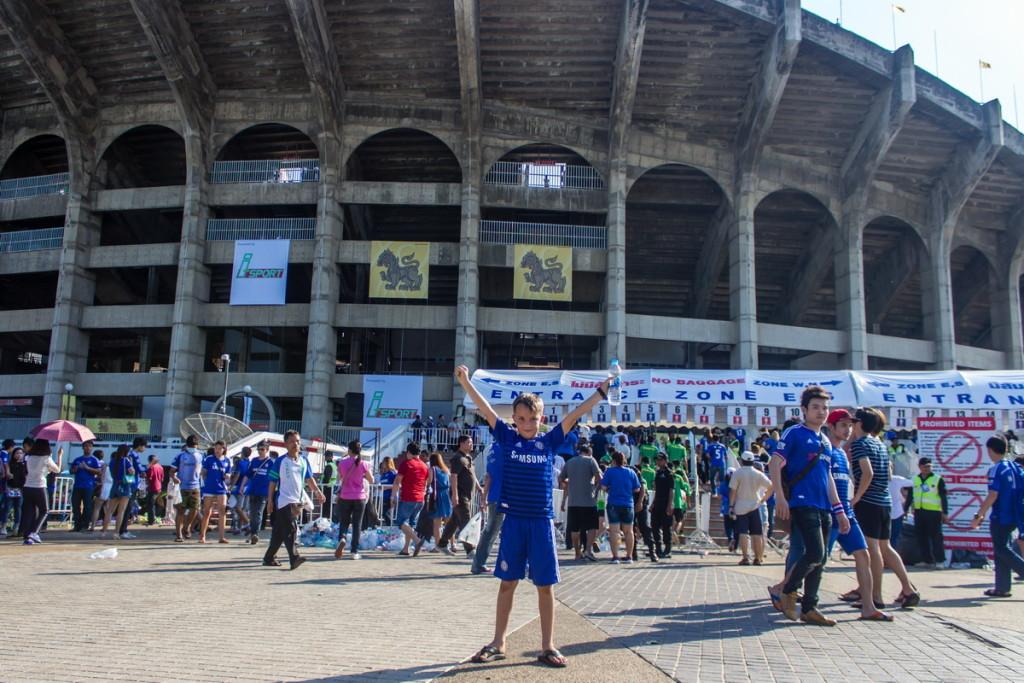 Арсений на стадионе