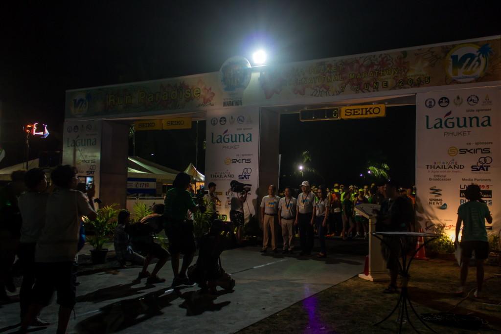 Старт марафона на Пхукете